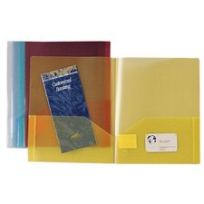 Transparent Portfolio, 2-Pockets, 60 Sht Cap, Letter, 5 per Pack
