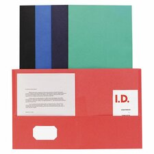Double Pocket Portfolio, 125 Sheet Capacity, 25 per Box