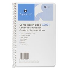 Sparco College Ruled 80 Sheet Composition Book, Cream