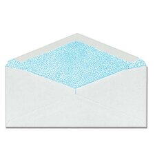 "Commercial Envelopes, Security Tint, Window, No. 10, 4-1/8""x9-1/2"", White"