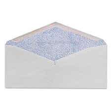 "Commercial Envelopes, Security Tint, 4-1/8""x9-1/2"", 500/BX, White"