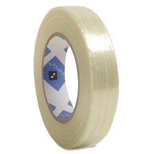 "Filament Tape, 3"" Core, White"