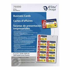"Business Cards, For Laser Printers, 8-1/2""x11"", 2500/BX, White"