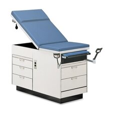 Maximum Value Exam Table, 5 Drawers, 350 Lb Cap, Slate Blue