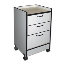 Oak 3-Drawer Mobile Cart, 3 Drawers, Folkstone Gray
