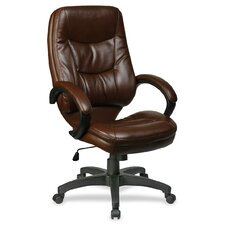 <strong>Lorell</strong> Westlake Series Executive High-Back Chair, Brown