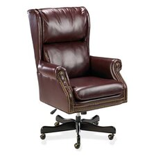 Traditional High-Back Office Chair with Arms