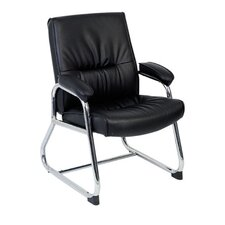 <strong>Lorell</strong> Leather Guest Chair with Metal Leg