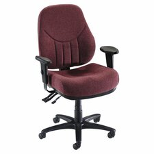 Lorell Baily Series High-Back Multi-Task Chairs, Burgundy