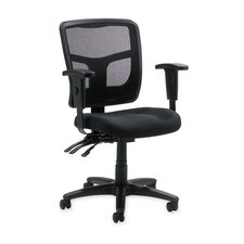 <strong>Lorell</strong> 86000 Series Mid-Back Mesh Managerial Chair with Arms