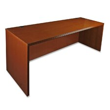 88000 Series Rectangular Desk Shell with Fluted Edge