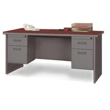 Durable Executive Desk with Double Pedestal