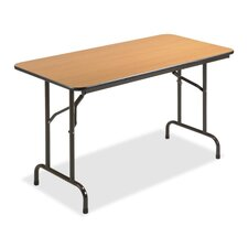 <strong>Lorell</strong> 24x48 Laminate Economy Folding Tables, Mahogany
