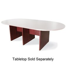 3-Leg Conference Table Base, Mahogany