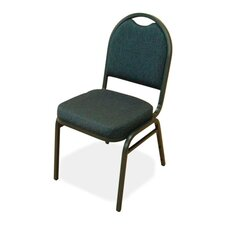 Round-Back Upholstered Stack Chair, 4-Pack