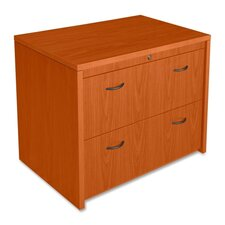 Lorell Laminate Two-drawer Lateral File, Cherry