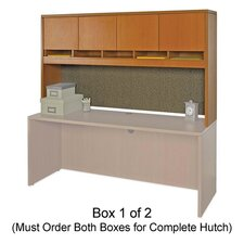 Lorell 87000 Series Lam. Stack-on Hutch w/Doors