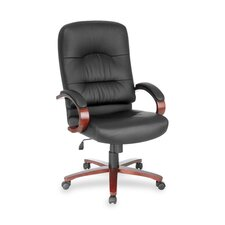 <strong>Lorell</strong> High-Back Leather Lorell Woodbridge Series Executive Chair