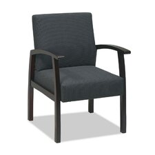 Lorell Deluxe Guest Chairs, Charcoal gray