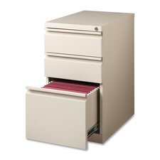 "15"" W x 22.9"" D 3-Drawer Mobile Pedestal File"