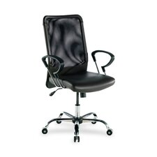 <strong>Lorell</strong> Executive High-Back Leather Swivel Chair