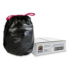 Black Flex Drawstring Trash Liners , Black