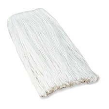 Four-ply Rayon Mop Refills, Cut End w/Headband, White