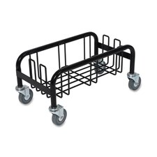 "Wall Hugger Dolly, 23 Gallon, 10-1/2""x19-1/2""x10"", Black"