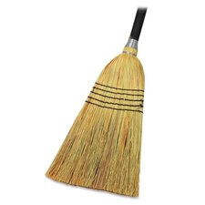 "Lobby Blend Broom, 11"" W, 56"" Handle, Natural"