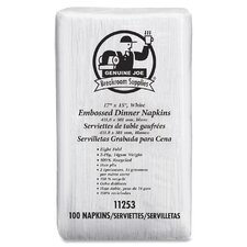 <strong>Genuine Joe</strong> Embossed Dinner Napkins (100 Pack)