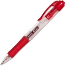 Retractable Gel Pen with Rubber Grip, Dozen