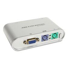 Compucessory 2-Port PS/2 KVM Switch, Blue