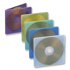 Compucessory Extra Thin CD/DVD Jewel Cases, Assorted