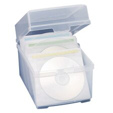 Compucessory CD/DVD Storage Box W/Sleeves, Clear