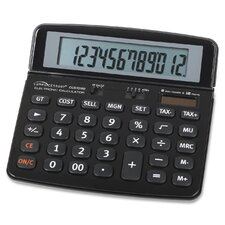 Dual Power 12-Digit Handheld Calculator