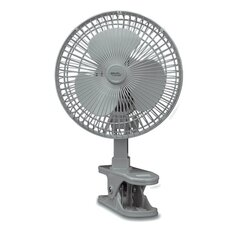 "6"" Personal Clip-On Fan in Light Gray"