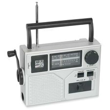 Acme Crank Radio with Flashlight, Silver