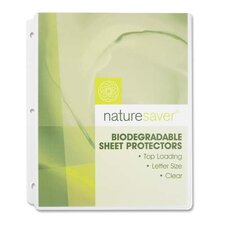 "Environment Friendly Sheet Protectors, Clear, 11""x8-1/2"", Biodegradable"