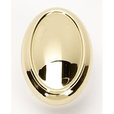 "<strong>Alno Inc</strong> Classic Traditional 1.5"" Oval Knob"