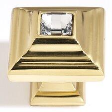 "Swarovski Crystal 1.25"" Square Knob"