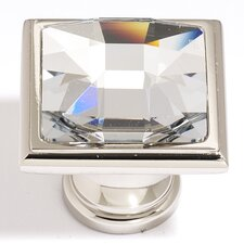 "Swarovski Crystal 1.25"" Large Square Knob"