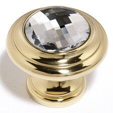 """Swarovski Crystal 1.13"""" Round Knob"""