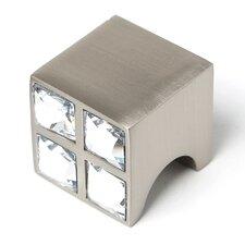 "Swarovski Crystal 1"" Square Knob"