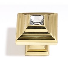 "Swarovski Crystal 0.40"" Small Square Knob"