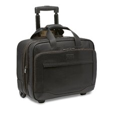 Aviator Leather Large Wheeled Expandable Brief