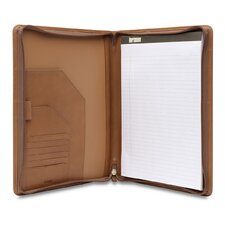 J Hartmann Reserve Zip Executive Writing Folio in Natural
