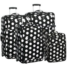 Polka Dot 4 Piece Luggage Set