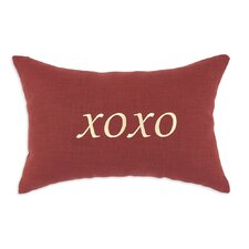 "<strong>Chooty & Co</strong> Circa Solid ""XOXO"" Embroidered Pillow"