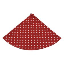 Ikat Dot Round Hemmed Tree Skirt