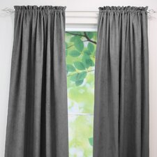 <strong>Chooty & Co</strong> Passion Suede Rod Pocket Curtain Single Panel